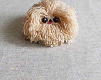 Small Pekingese dog, small funny toy, small funny animal, small cute toy, small cute animal, dog lovers gift, Maltese dog, Shih Tzu dog