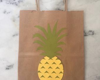 Pineapple Kraft Paper Gift Bag