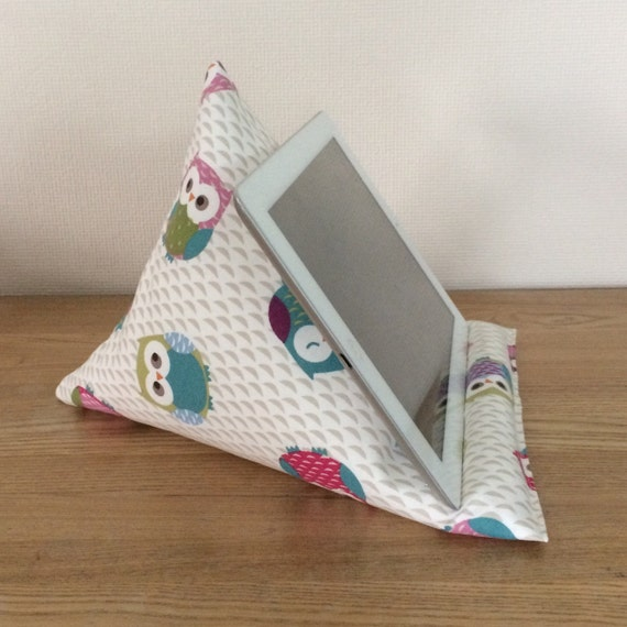 Cute Tablet Pillow : Tablet pillow iPad stand cute owl fabric iPhone stand iPod