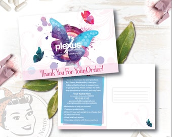 Plexus Thank you Postcard - Butterfly Kisses - Free Shipping