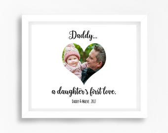 Father Daughter Gift, New Daddy Gift from Baby Girl, A Daughter's First Love, Photo Print, Father's Day Print, Gift for Dad, Dad Photo Print