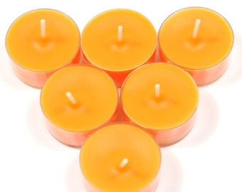 Chocolate Orange Handmade Premium Quality Highly Scented 6 Tea Light Candles