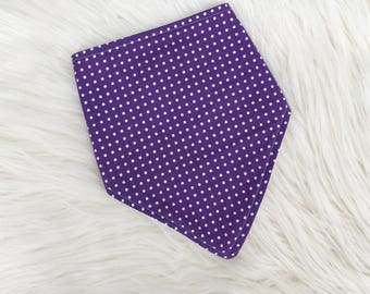 Baby Dribble Bib, Purple Bib, Spotty Bib, Toddler Bib, Baby Gift, Baby Shower, New Baby, Handmade in the UK