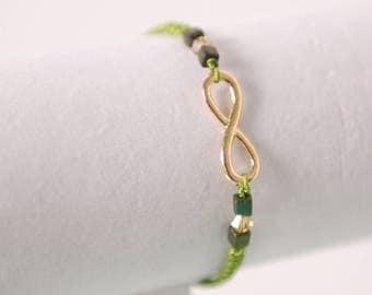 Handmade Gold-Tone Infinity Bracelet