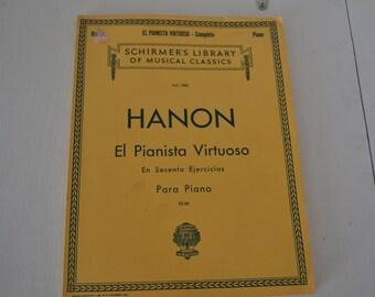 Hanon-El Pianista Virtuoso Piano-Sheet Music Book-Spanish