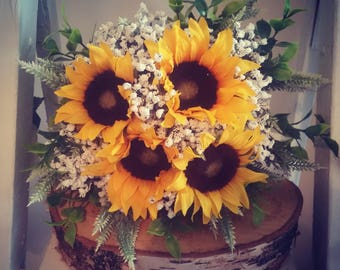 Stunning artificial Sunflower bouquet