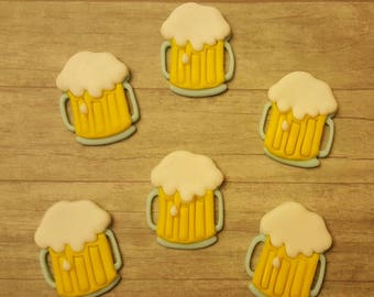 Mug of Beer Edible Cupcake Toppers