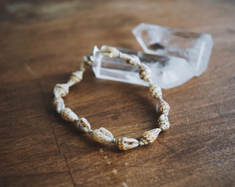 Beaded Shell Braclet / Beach Bracelet /Natural Bracelet