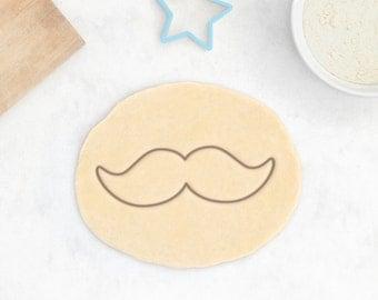Mustache Cookie Cutter - Gentleman Cookie Cutter Movember Stache Cookie Cutter Moustache Cookie Cutter - 3D Printed