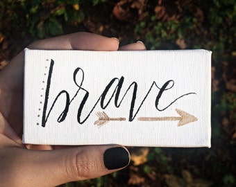 2018 One Word Hand-Lettered Mini Canvas