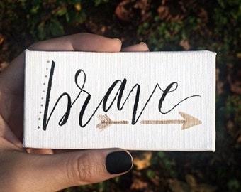 One Word Custom Mini Canvas • Custom Hand Lettered Canvas