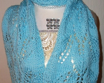Hand Knitted Virgin Wool Scarf