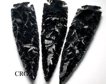 """Black Obsidian Arrowhead 6""""-7"""" QTY-1 (AR37DG)"""
