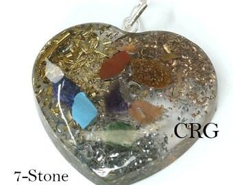 Heart 7-Stone Pendant  (OR15DG)