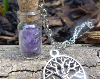 Amethyst bottle charm