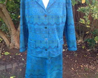 Original Vintage 1960's 2-piece Suit - Size 14