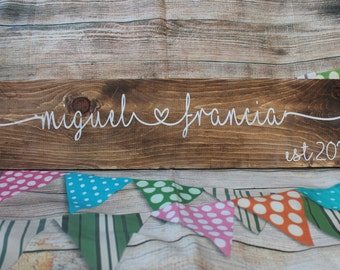 Family Established Sign Family Established Wood Signs Wedding Gift Name Establish Home Established Sign Name Wood Sign