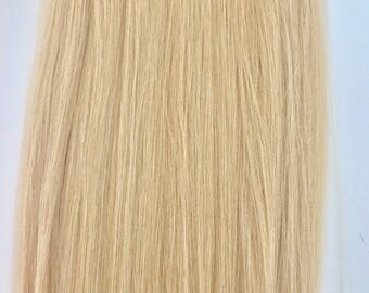 Natural Golden Blonde-100% Human Hair Flip-in(Halo style) extension