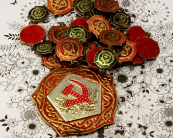 Very RARE Badge with neck chain, a worker at the wedding registrar, USSR