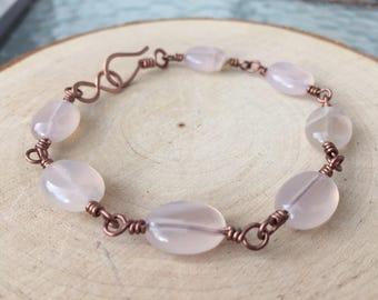 Natural Agate Bracelet / Copper Bracelet / Wire Wrapped Bracelet