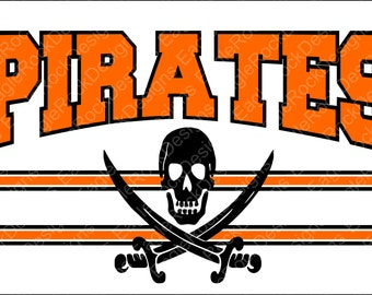 Pirates SVG, DXF, EPS Cut File for Cameo and Cricut, Pirates Svg, Football Svg, Basketball Svg, Instant Download