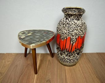 Vintage floor vase / Scheurich / 291 38 / Decor Lora | 60s | West German Pottery