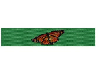 Peyote Bracelet Pattern Monarch Butterfly Center Set