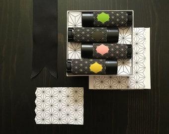 Lip Balm Gift Set All Natural Vegan Essential Oil Pure Rose Vanilla Bergamot Matcha Jasmine Aromatherapy