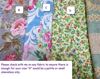 COTTON Fabric available for Cotton Custom Nightgowns