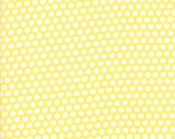 1 Yard Bonnie and Camille Basics by Moda -55023-30 Bliss Dot Yellow