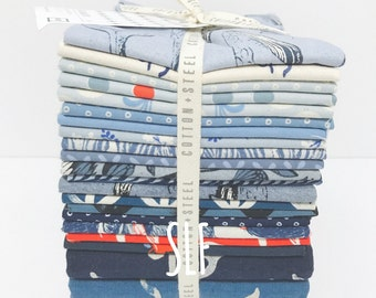 Fat Quarter Bundle  S.S Bluebird Cotton and Steel Collaboration - 21 Fabrics Complete Set