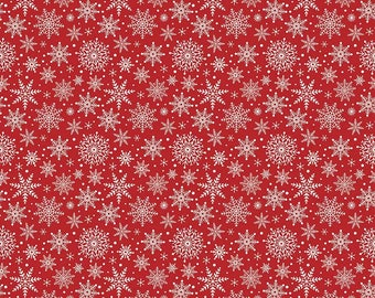 SALE!! 1 Yard Comfort and Joy by Design by Dani for Riley Blake Designs- 6265  Red