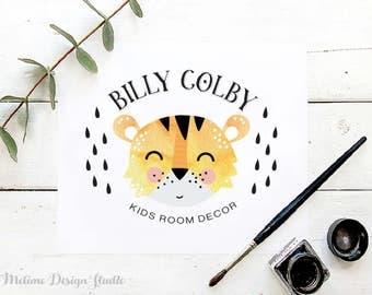 Kids Logo design, Pre-made Logo Design, Funny Tiger Logo design, Baby and Kids Boutique Logo design, Modern Kids Logo (B2.LOGO)