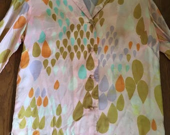 Liberty House Blouse 1960s Abstract Print