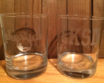 Lakeside,OH Glasses - Set of 2 Lakeside Glasses - Lakeside - Lake Erie - Lake Erie Islands -Ohio