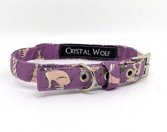 Small Pet Collar, Pretty Dog Collar, House Collar, Rabbits, Hares, Swarovski Crystals, Tiny Dog Collar, Puppy Collar, For Small Dogs,