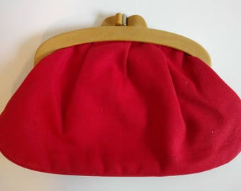 Vintage Red Clutch.