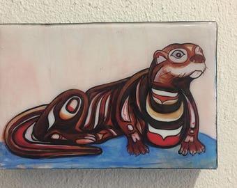 River Otter Resin Print