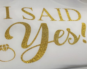 Custom Make to Order She Said Yes We Said Party. Bride Tee and Bachelorette's Tank Tops. Bridal Gift in Next Level XS-XXL