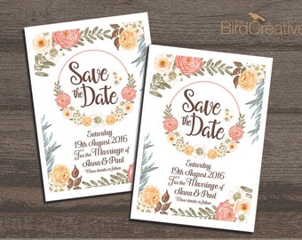 The Flowers Wedding Stationery, Save the Date