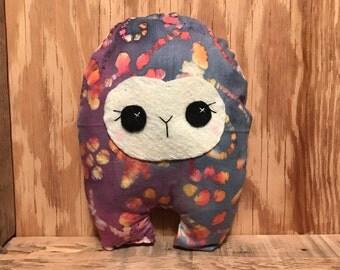 Rainbow Leaf Huggle | Cute Monster Plush, Cute Stuffed Toy, Stuffed Animal, Handmade Plush Toy