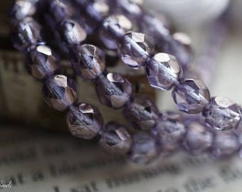 Vintage Lavender, Czech Beads, Beads, N2230