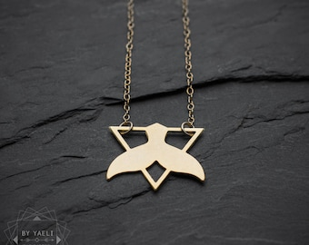 Whale tail necklace, animal necklace, whale necklace, geometric necklace, triangle necklace, unique necklace, gift under 50