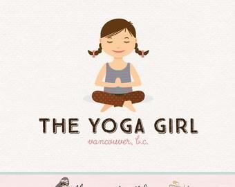 yoga logo design pilates logo design yoga girl logo premade logo fitness logo exercise logo health logo wellness blog logo bespoke yoga logo