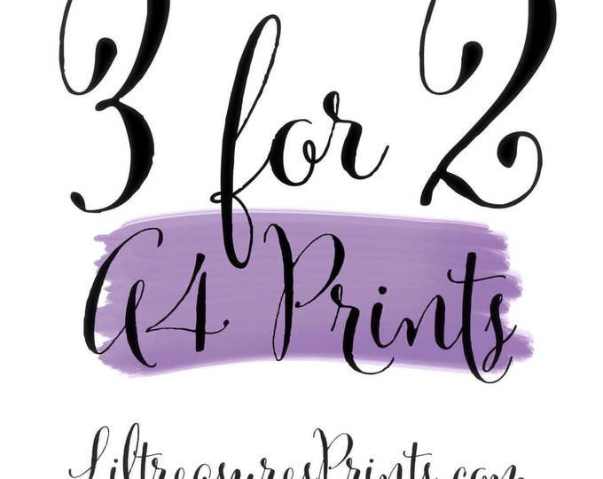 3 for 2 on A4 prints check our shop for more designs  | Wall prints | Wall decor | Home decor | Print only | Typography