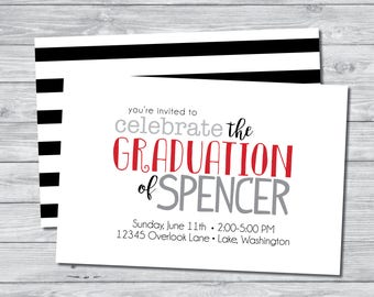 Celebrate The Graduate Invitation, Graduation Party Invitation, Digital Invitation