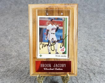 Brook Jacoby Autographed Card Cleveland Indians C. 1989