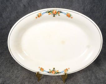 """C.P. Co Crown Potteries 13"""" Oval Serving Plate Pattern CRP158 Circa 1920'S"""