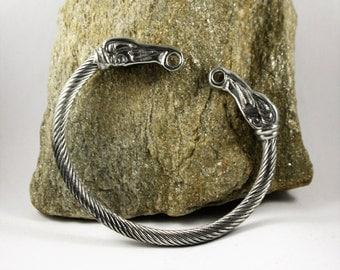 Viking Raven head Bracelet