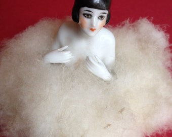 Flapper Half Doll in Swansdown